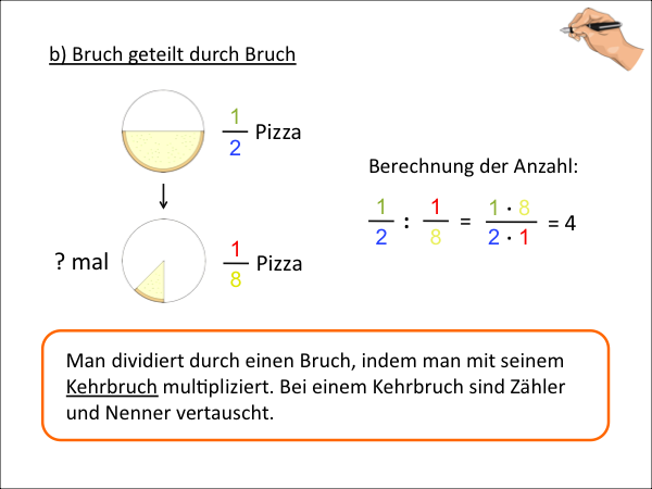 ... Brüche   Addition, Subtraktion, Multiplikation, Division   Präsentation
